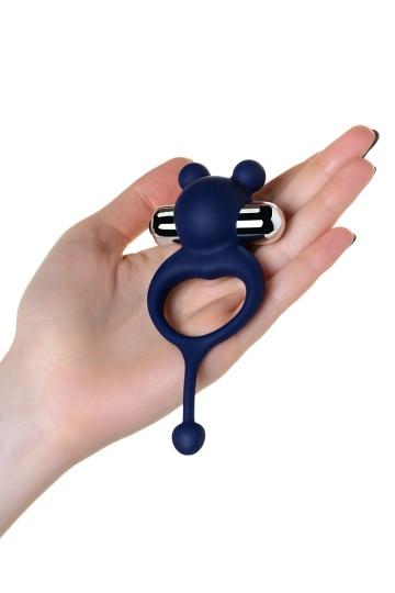 Синее виброкольцо с хвостиком JOS MICKEY
