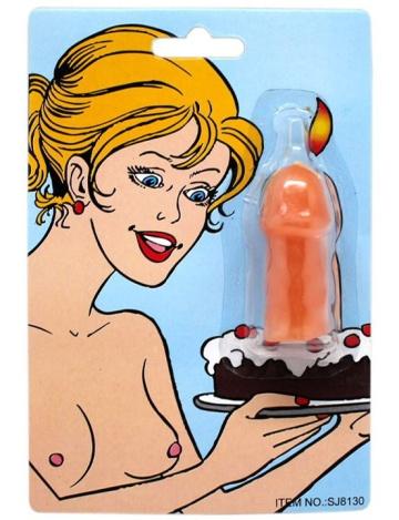 """Свечка на торт """"Шалун"""" в форме пениса"""
