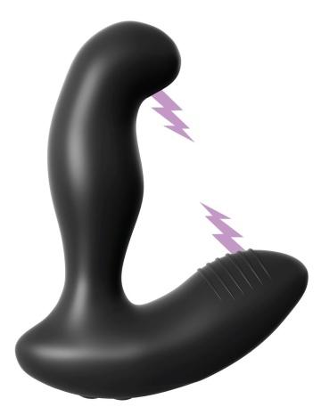 Черный массажер простаты Electro Stim Prostate Vibe с электростимуляцией - 13,3 см.