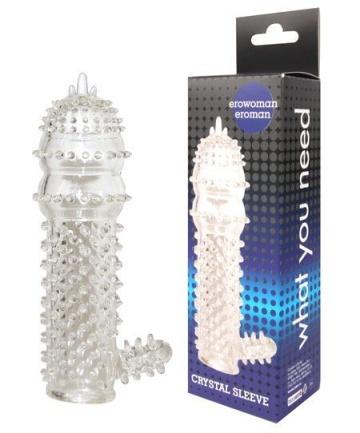 Закрытая прозрачная насадка Crystal sleeve - 12,8 см.