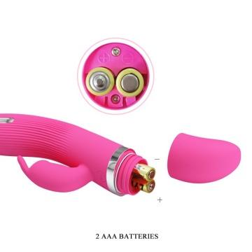 Розовый вибратор Ingram с электростимуляцией - 19,2 см.