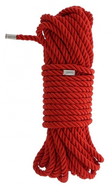 Красная веревка DELUXE BONDAGE ROPE - 10 м.