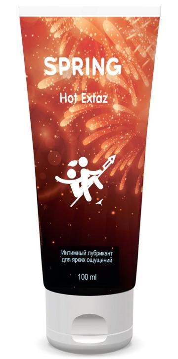 Согревающий интимный лубрикант Spring Hot Extaz - 100 мл.