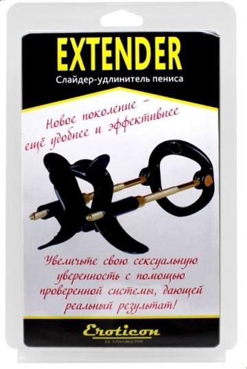 Черный удлинитель пениса Extender