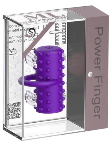 Фиолетовая вибропулька на палец Power Finger