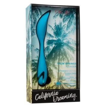 Голубой гнущийся вибратор Palm Springs Pleaser с функцией Power Boost - 15,25 см.