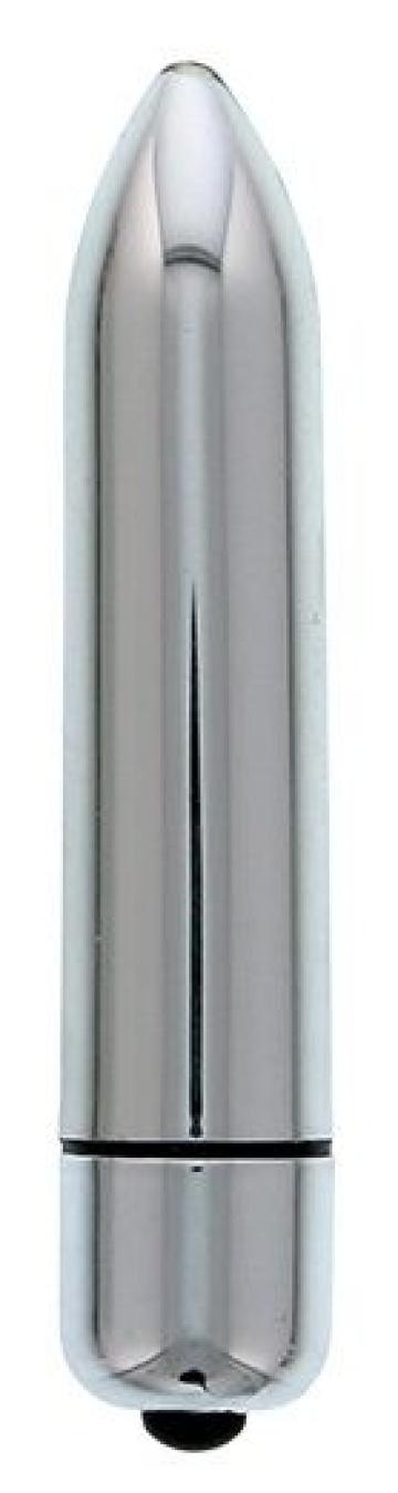 Серебристый мини-вибратор CLIMAX BULLET - 8,5 см.