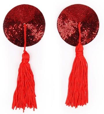 Красные круглые пэстисы с кисточками