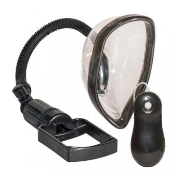 Прозрачная женская вакуумная помпа с вибрацией