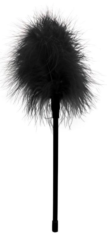 Черная пуховка Feather - 27 см.