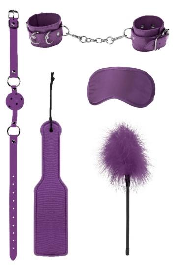 Фиолетовый игровой набор БДСМ Introductory Bondage Kit №4