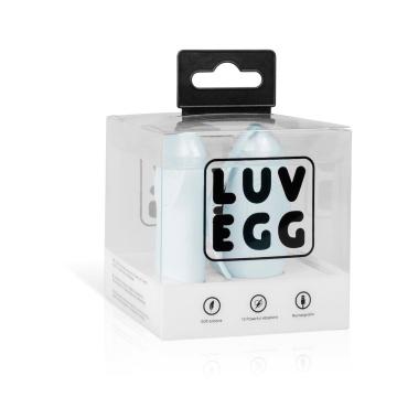 Нежно-голубое виброяйцо LUV EGG с пультом ДУ