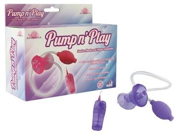 Фиолетовая помпа с вибрацией Pumpn