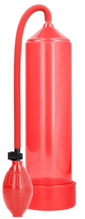 Красная ручная вакуумная помпа для мужчин Classic Penis Pump