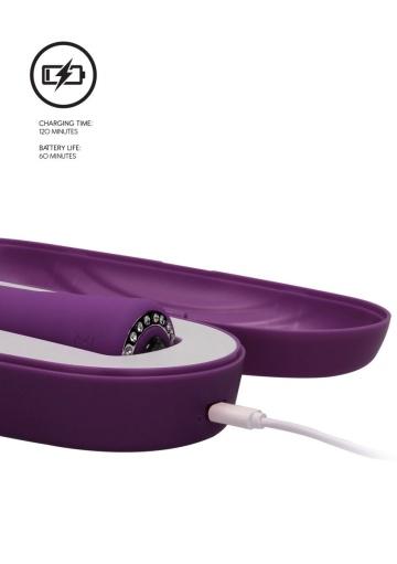 Фиолетовый вибромассажер-кролик Lux - 20 см.