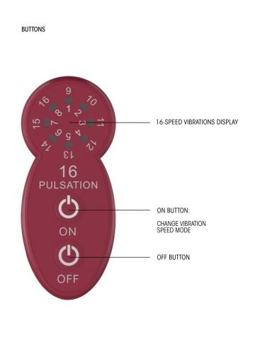 Красный универсальный массажер Silicone Massage Wand - 20 см.