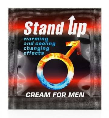 Пробник возбуждающего крема для мужчин Stand Up - 1,5 гр.