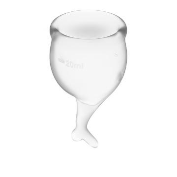 Набор прозрачных менструальных чаш Feel secure Menstrual Cup