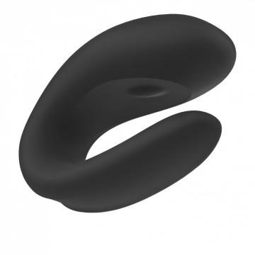 Черный вибратор для пар Double Joy с управлением через приложение