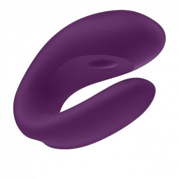 Фиолетовый вибратор для пар Double Joy с управлением через приложение