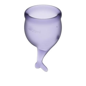 Набор фиолетовых менструальных чаш Feel secure Menstrual Cup