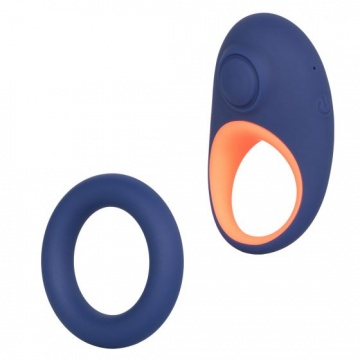 Набор из двух синих эрекционных колец Link Up Verge