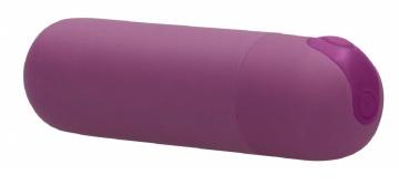 Фиолетовая перезаряжаемая вибропуля 7 Speed Rechargeable Bullet - 7,7 см.
