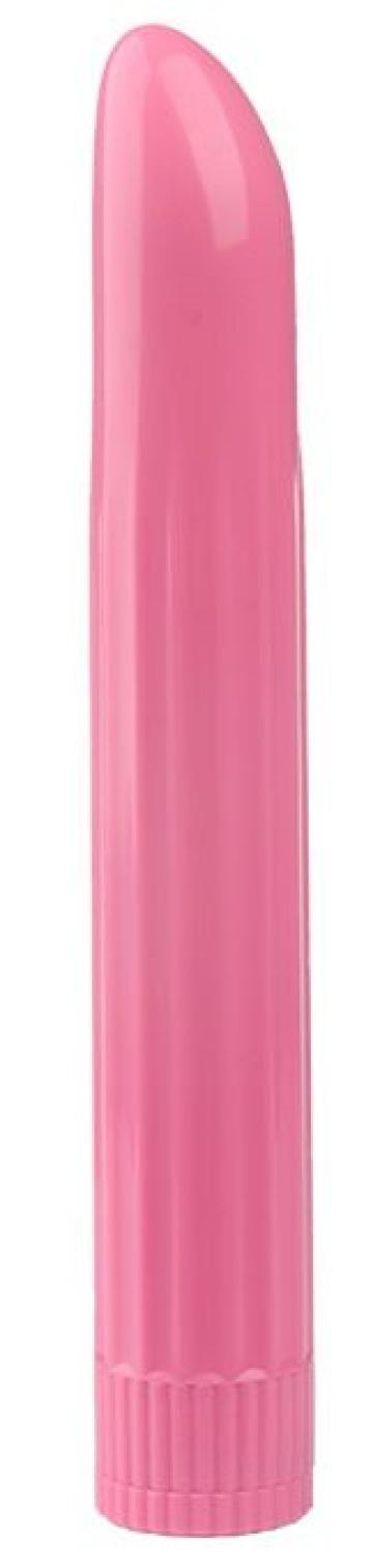 Розовый вибромассажёр LADY FINGER - 16 см.