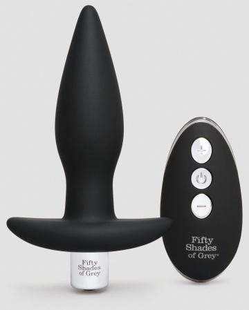 Черная вибровтулка Relentless Vibrations Remote Control Butt Plug - 11,4 см.