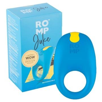 Синее эрекционное виброкольцо Romp Juke