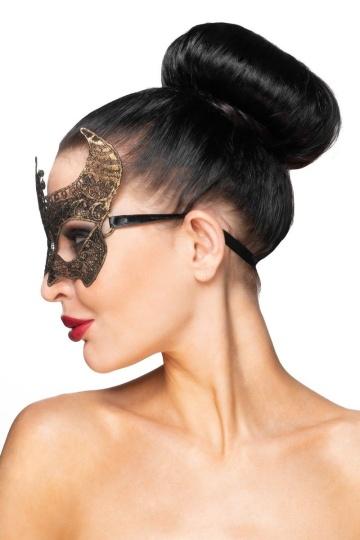 """Золотистая карнавальная маска """"Нунки"""""""