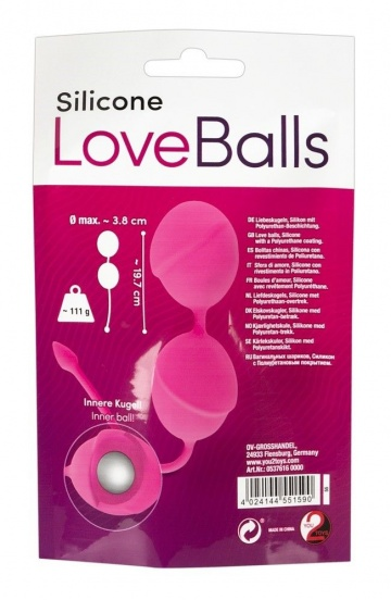 Розовые вагинальные шарики Silicone Love Balls