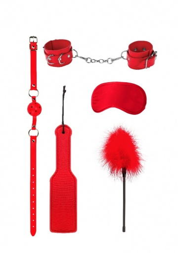 Красный игровой набор БДСМ Introductory Bondage Kit №4