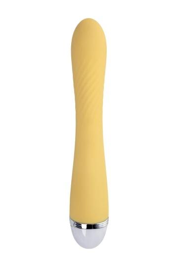 Желтый вибратор Calla - 22 см.