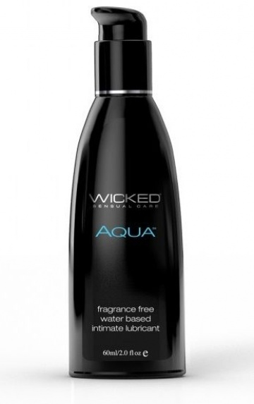 Легкий лубрикант с алоэ на водной основе Wicked AQUA - 60 мл.
