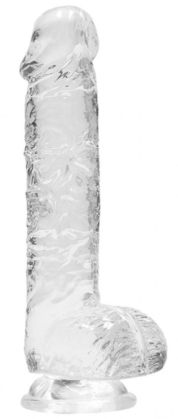 Прозрачный фаллоимитатор Realrock Crystal Clear 8 inch - 21 см.