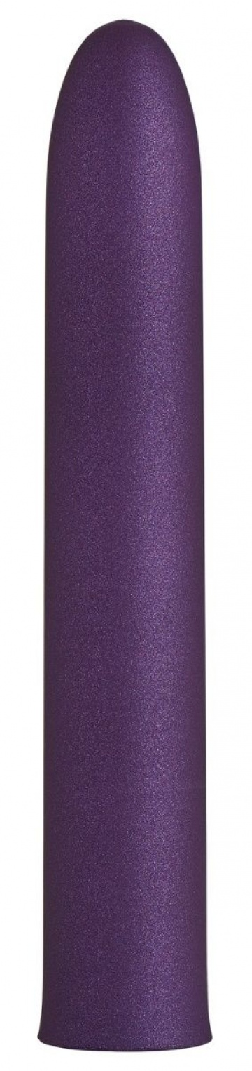 Фиолетовый гладкий вибратор Rocket Man - 14 см.