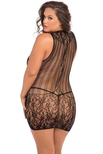 Эротическое бесшовное мини-платье с американской проймой