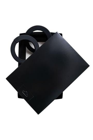 """Черные силиконовые наручники """"Штучки-дрючки"""""""