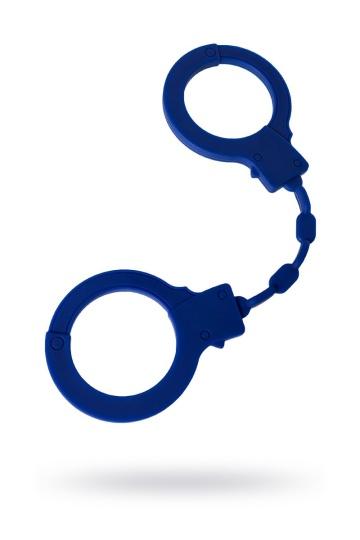 """Синие силиконовые наручники """"Штучки-дрючки"""""""
