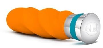 Оранжевый вибромассажер VIBRANCE - 15,2 см.