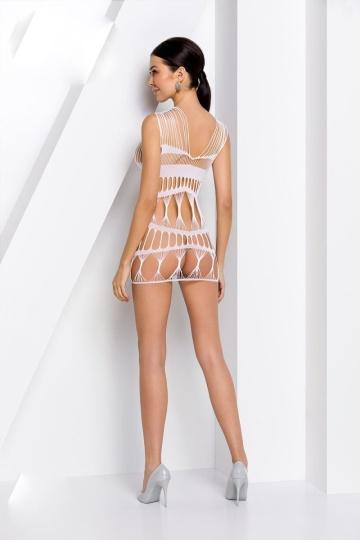 Соблазнительное коротенькое платье-сетка с оригинальным узором