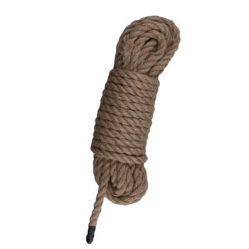 Коричневая веревка для бондажа Hemp Rope - 10 м.