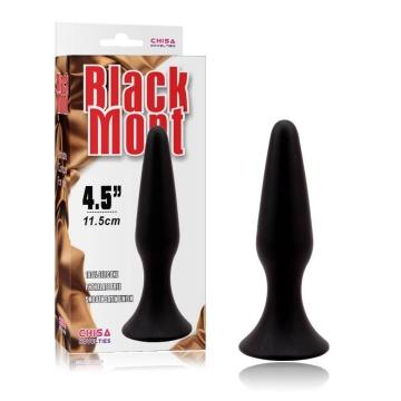 Черная анальная пробка L Silicone Plug - 12,8 см.