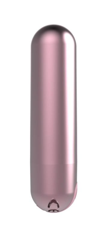 Розовая перезаряжаемая вибропуля Clio - 7,6 см.
