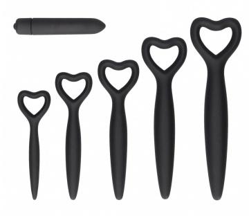 Набор вагинальных расширителей с вибропулей Silicone Vaginal Dilator Set
