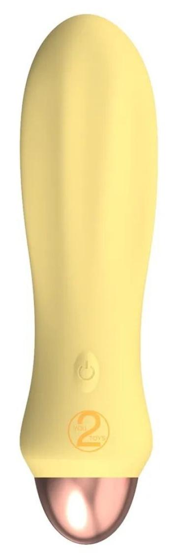 Желтый мини-вибратор Cuties 2.0 - 12,6 см.