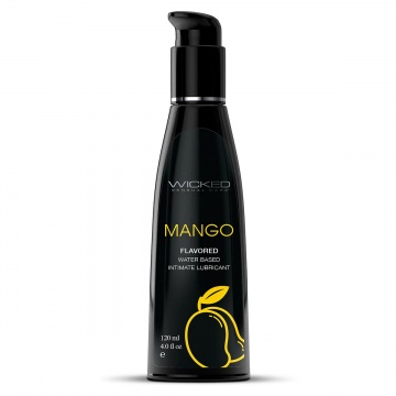 Лубрикант на водной основе с ароматом манго Wicked Aqua Mango - 120 мл.