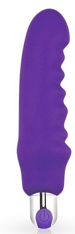 Фиолетовый вибратор Rechargeable IJOY Silicone Waver - 16,5 см.