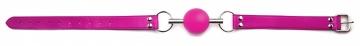 Кляп-шар на розовых ремешках Solid Ball Gag